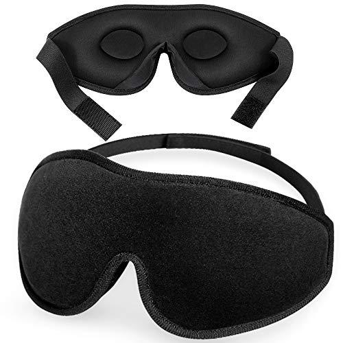 Masque de Nuit, Masque de Sommeil pour Homme Femme, Peakally Masque de Voyage 3D Anti-lumière pour Voyage en Avion, Noir prix et achat