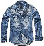 Brandit Homme Chemise Jeans Riley Denimshirt - Bleu (Denim Bleu 62), XXL