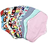 Protège-slips lavables en fibres de bambou, réutilisables, lavables et lavables - Coussins menstruels en coton de bambou doux - Pour femmes