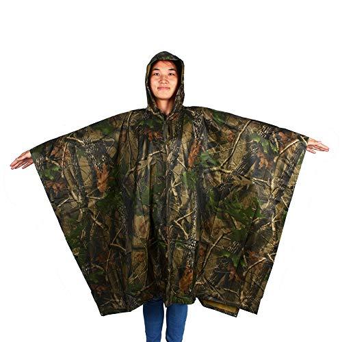 Imperméable Étanche Imperméable, Camouflage Effet Jungle Chasse Jungle Chasse Camouflage Étanche Pluie Veste Fait de Oxford Chiffon pour Camping Randonnée Jungle