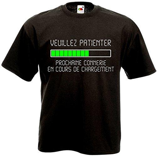 T-Shirt Veuillez Patienter Prochaine connerie en Cours de Chargement - Geek Humour Loading...