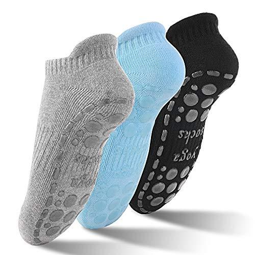 GOAMZ Yoga Chaussettes antiderapant Chaussettes pour Yoga, Pilâtes, Arts Martiaux, Fitness, Antidérapantes, Chaussettes EU 36-41(3 Coloris) prix et achat