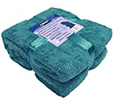 A-Express : Plaid Bleu sarcelle polaire de 200cmx240cm