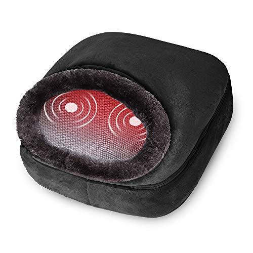 Snailax 3-en-1 Masseur de Pieds Chauffant et Vibrant, Massage du Dos avec Chaleur, Coussin Chauffant rapide et 5 modes de massage, Réchauffe-pieds, soulager la douleur SL522V-FR prix et achat