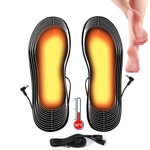 Lyeiaa Semelles intérieures USB chauffantes Semelles Thermiques Chauffantes Semelles intérieures USB Hiver Chaud Chaussures Semelle intérieure Chauffante Rechargeable prix et achat