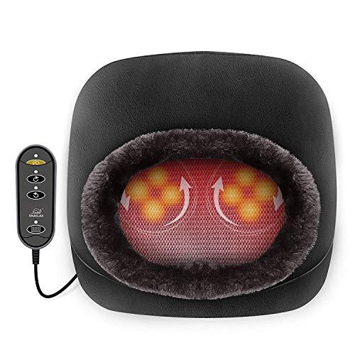Snailax 2 en 1 Massage pieds shiatsu chauffant- Masseur de pieds avec chaleur et Coussin de massage pour le dos, Réchauffe-pieds et Soulagement des douleurs de pieds SL522S-FR prix et achat