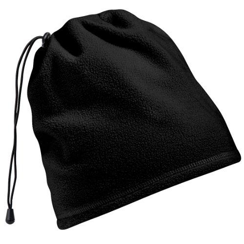 Beechfield - Bonnet snood en polaire antibouloche 2en1 - Adulte unisexe (Taille unique) (Noir) prix et achat