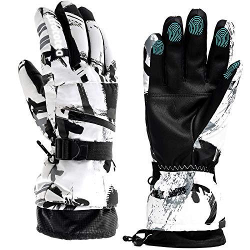Gants de ski, gants d'hiver chauds pour écran tactile, gants de ski, gants de moto, gants...