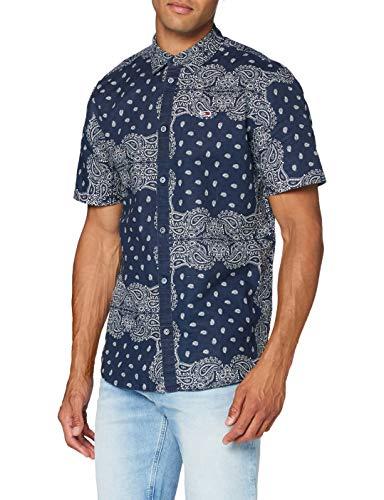 Tommy Jeans TJM Shirt Chemise Casual, Bleu (Blue Bandana Print 0gy), Medium Homme