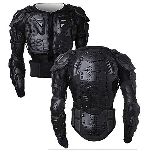 WILDKEN Veste Armure Moto Blouson Motard Gilet Protection Équipement de Moto Cross Scooter VTT Enduro Homme ou Femme (Noir, x_l)