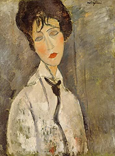 Kunst für Alle Reproduction/Poster: Amedeo Modigliani La Femme à la cravatte Noir - Affiche,...