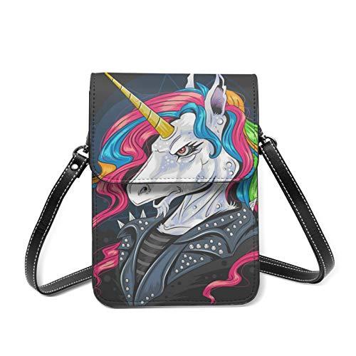 Petit sac à bandoulière licorne punk veste cycliste sac à bandoulière sac de voyage sac de...