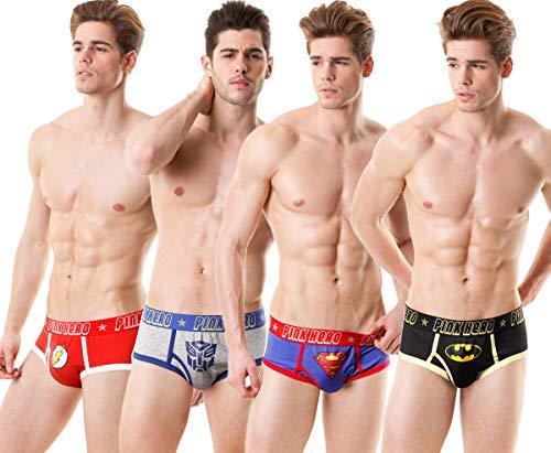 Pink Hero Slip Homme sous-Vêtements pour Hommes Superman pour Batman Marvel Caleçons Slips Underwears prix et achat