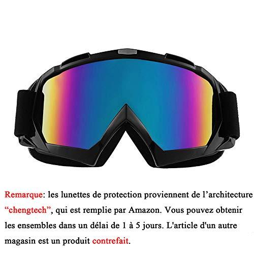 Sijueam Lunettes de Protection de Yeux Visage Masque pour sport de plein air Anti-UV coupe-vent...