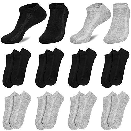 8 Paires Chaussettes Homme Socquettes Sport Coton Basses Chaussettes Respirant Homme Courtes pour Courir, La Randonnée, La Marche prix et achat