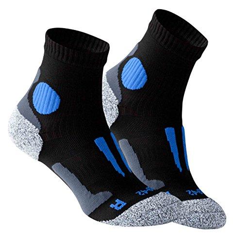 Vincent Creation VCA - Lot de 2 paires de chaussettes de course à pied - haute performance -...