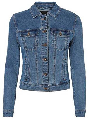 Vero Moda Vmhot SOYA Ls Jacket Mix Noos Blouson, Bleu (Medium Blue Denim Medium Blue Denim), 44 (Taille Fabricant: X-Large) Femme prix et achat