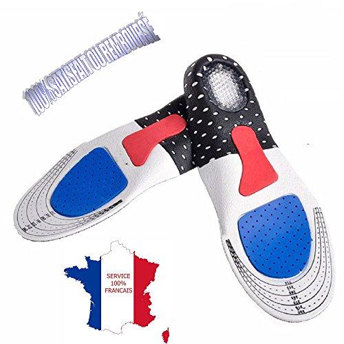 KWIM'S France® Semelles ORTHOPÉDIQUE, Semelle Gel Sport - Semelle Chaussure Amorti Les Chocs...