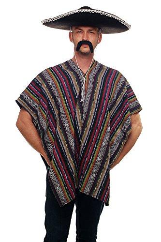 DRESS ME UP - Super poncho mexicain Mexique western spaghetti cowboy. Taille unique K49