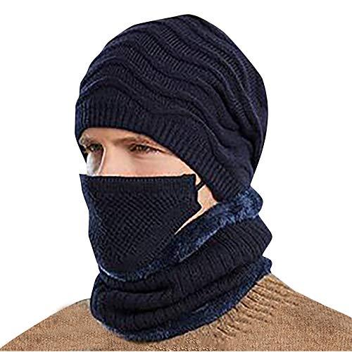 Générique Bonnet Hiver Hommes Femme Chaud Bonnet de Ski Chapeau Femme Hiver avec Doublure Épaisse,Bonnet tricoté épais Coupe-Vent pour Hommes, Cyclisme Chaud, Coupe-Vent, Protection des Oreilles