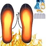 Suxman Semelles chauffantes, Semelle chauffante Electrique USB Taille Ajustable Chauffe Pied pour d'hiver pêche randonnée Camping Taille Peut être coupé et Lavable (M (41-46))
