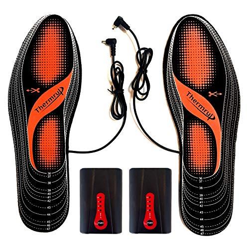 Semelles thermique chauffantes Batterie d'Exploitation (chaud 4 niveaux), Taille: 36-47,...