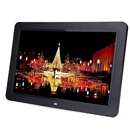 Topiky Cadre Photo numérique, 12 Pouces LED 1280X800 HD Cadre électronique Intelligent multilingue avec télécommande, Support de Bureau Horloge/Musique/Vidéo/Lecteur Audio/eBook(EU Plug)