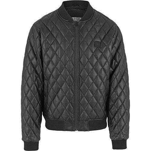 Urban Classics Jacke Diamond Quilt Leather Imitation Jacket Blouson Homme, Noir (Schwarz), (Taille Fabricant: Large) prix et achat