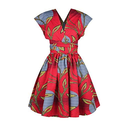OBEEII Femme Africaine Robe Bohème Élégant 3D Imprimer Multi-Way Bandage Dress Bandage Dashiki Costume Ethnique Traditionnel pour Soirée Cocktail Demoiselle d'honneur Prom Fête S prix et achat
