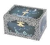 TROUSSELIER - Ballerine - Boîte à Bijoux Musicale - Idéal Cadeau Jeune Fille - Phosphorescent - Brille dans la nuit - Musique Lac des Cygnes - Colori Bleu nuit