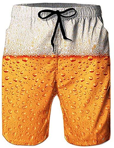 Loveternal Short de Bain Homme 3D Bière Shorts de Planche Imprimée en Banane Séchage Rapide...