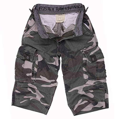 FOSTEX Pantacourt Delave Enfant Kids Camouflage Woodland 112214 Airsoft 10 Ans