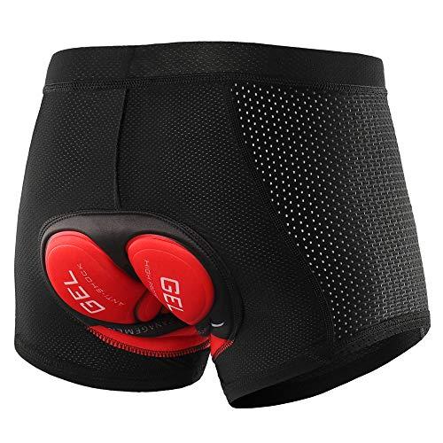 Lixada Short de Cyclisme pour Hommes, avec rembourré de Gel, sous-vêtement Respirant, Short...