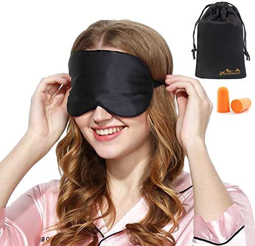 Masque de Sommeil, Masque de Nuit Soie, 100% Soie Naturelle Occultant Ultra-Douce Masque de Voyage Masque de Yeux Sommeil, Masque pour Dormir Soie,Masque Nuit Sommeil Soie prix et achat