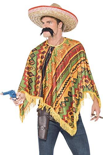 Smiffys Poncho et moustache, Orange prix et achat