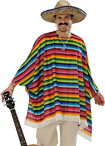 Widmann 9543x?Adultes Costume mexicaner?Poncho et Sombrero, Multicolore, Taille Unique prix et achat