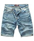Rock Creek Shorts Denshorts Homme Denim Court Short Pantalon Homme Shorts Jeans Pantalon d'été Stretch Bermuda Pantalon Bleu Clair RC-2201 lightblueW32