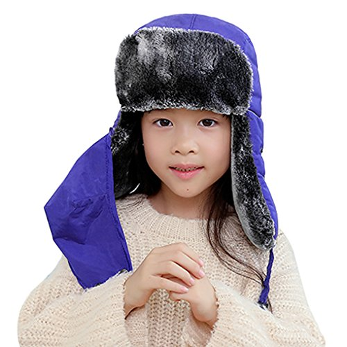 Chapka Enfant Fille Garçon Bonnet Enfant Hiver Bonnet Ski Fille Garçon Bonnet Chaud Epais...