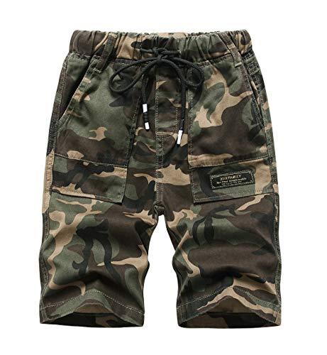YoungSoul Short Camouflage Garcon Pantacourt Été Bermuda Taille Élastiquée Enfant Armée...