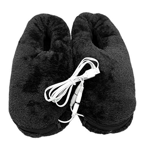 Koet Chaussons chauffants USB en peluche lavable chauffants en fibre de carbone avec coussinets chauffants pour l'hiver prix et achat