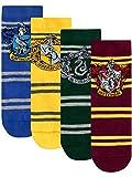 Harry Potter - Chaussettes Pack de 4 - Hogwarts - Enfants - Multicolore - 31/36 ( Taille fabricant 12.5 - 3.5