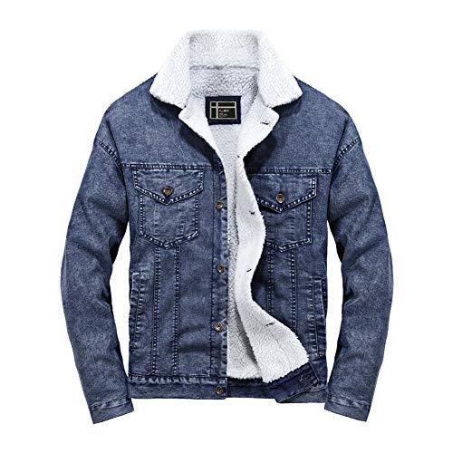 manadlian Blouson Denim Homme Sweats Hiver Chaud Mode Veste en Jean Hommes 2019 Blouson Grande...