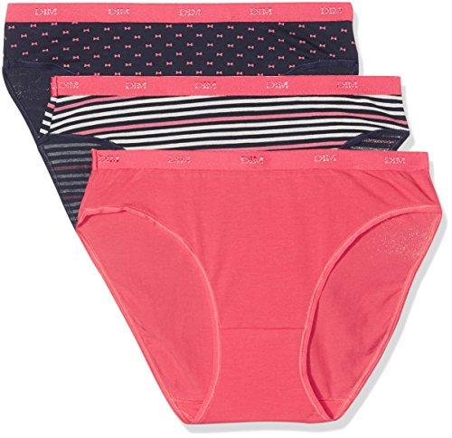 Dim Les Pockets Coton Slip Femme, Multicolore (Lot Pretty Rose) 40 (Taille fabricant: 40/42) Lot de 3