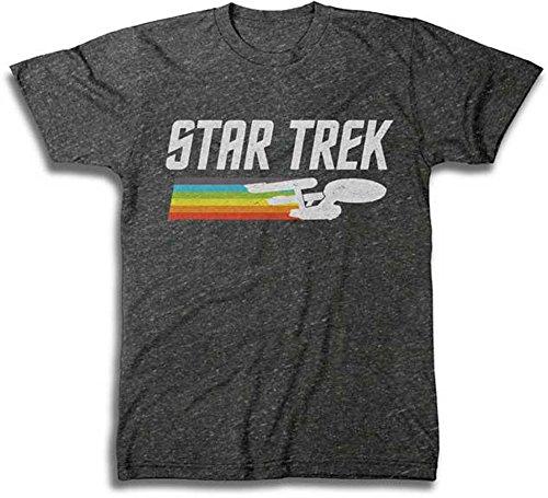Star Trek Enterprise Rainbow Trail T-Shirt Large
