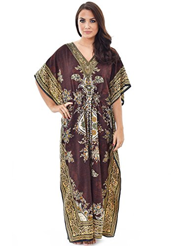Nightingale Collection Robe pour femme - Marron - Taille unique