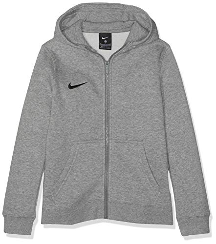 Nike Team Club 19 Sweat-Shirt à Capuche Mixte Enfant, DK Grey Heather/Dark Steel Grey/Black/(Black), FR : S (Taille Fabricant : S) prix et achat