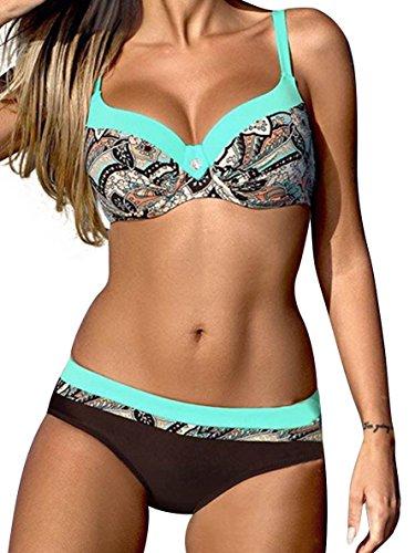UMIPUBO Bikini Set Deux Pièces Bikini Push Up Maillots De Bain Candy Couleurs Natation...