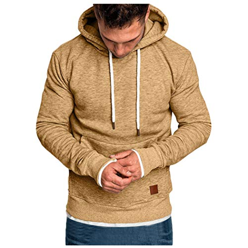 manadlian Hommes Sweatshirts à Capuche Hoodies Automne Hiver Pull Cardigan Manteau Pull À Capuche Veste Outwear Tee Shirt Grande Taille Simple Blouse Sports