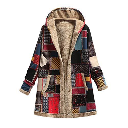Manteau Femme Hiver Long Grande Taille à Capuche Manche Longue Hiver Chaud Blouson Chic...