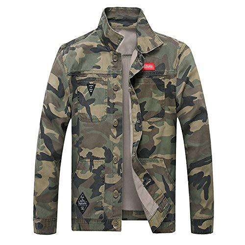 manadlian Homme Veste en Jean Camouflage Manteaux Grande Taille Sweat-Shirt Casual Parka Jacket...